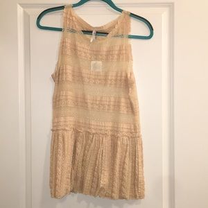 NWT Free People ivory lace tank top